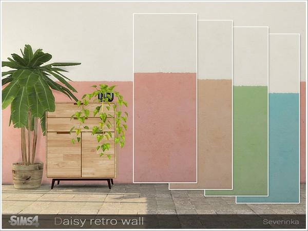 Daisy wall by Severinka at TSR image 3118 Sims 4 Updates