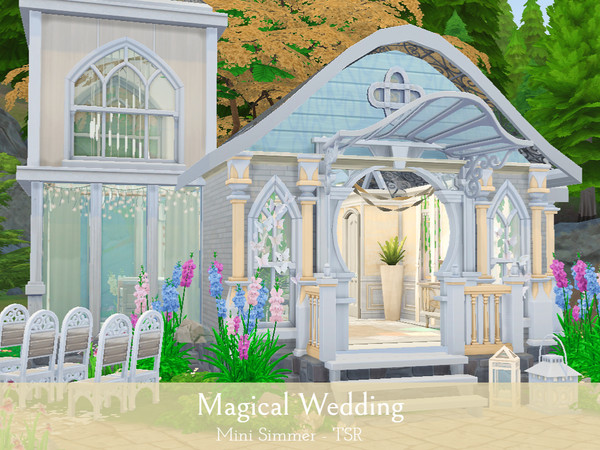Sims 4 Magical Wedding venue by Mini Simmer at TSR