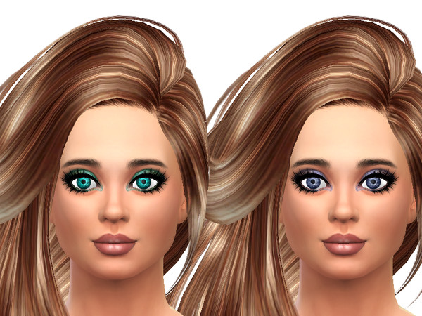 Sims 4 Eye colors not face paint by TrudieOpp at TSR