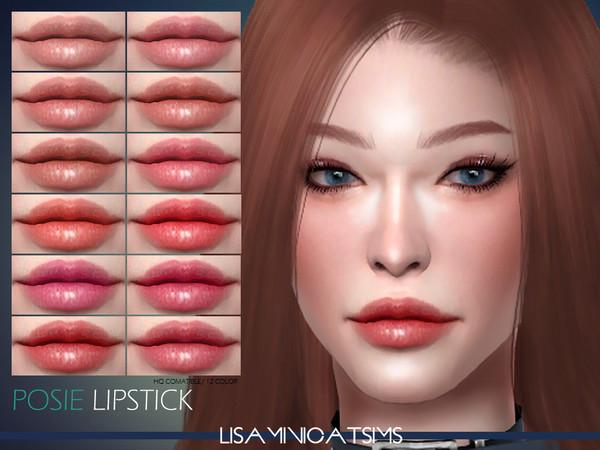 LMCS Posie Lipstick HQ by Lisaminicatsims at TSR image 3137 Sims 4 Updates
