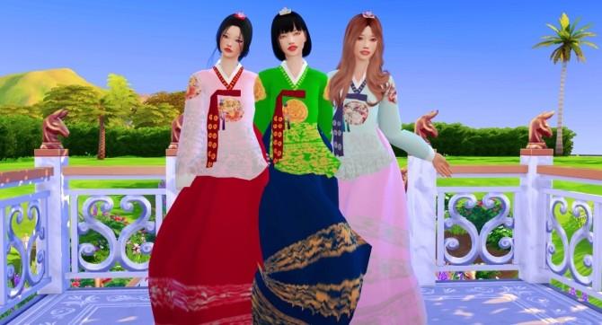 Sims 4 Korean Hanbok Set at Mochachiii