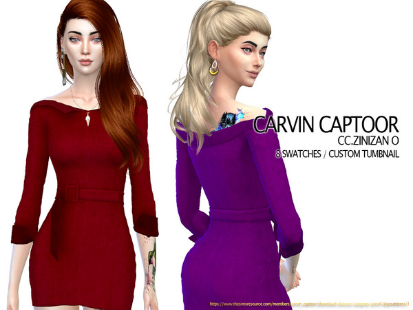 Zinizan O dress by carvin captoor at TSR image 3319 Sims 4 Updates