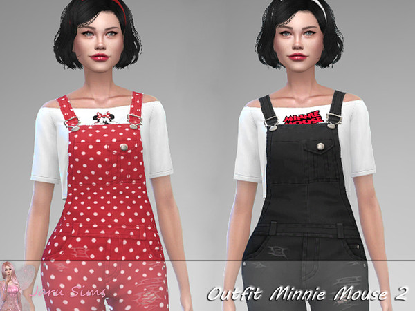 Sims 4 Outfit Minnie Mouse 2 by Jaru Sims at TSR