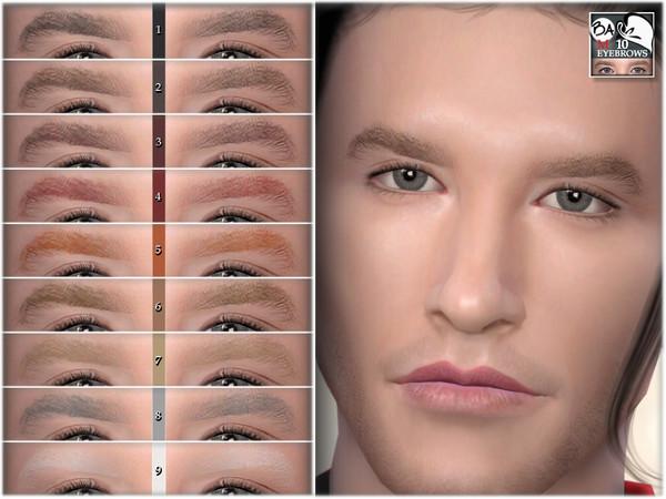 Sims 4 Eyebrows 10 by BAkalia at TSR