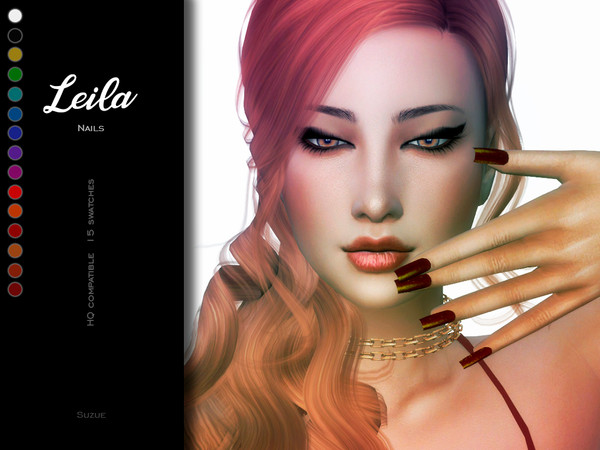 Sims 4 Leila Nails by Suzue at TSR