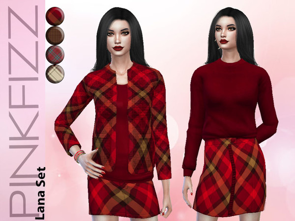 Sims 4 Lana Set by Pinkfizzzzz at TSR