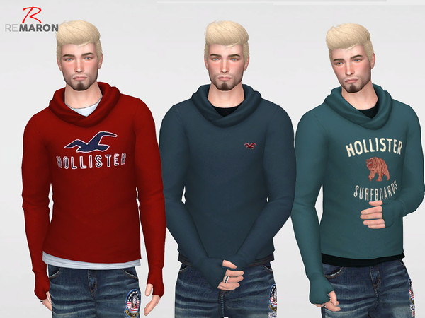 Sims 4 Sweater for men by remaron at TSR