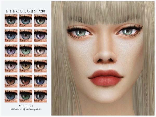 Sims 4 Eyecolors N30 by Merci at TSR