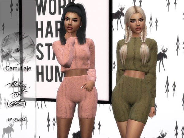 Sims 4 Penelopy shorts by Camuflaje at TSR