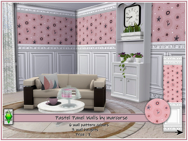 Pastel Panel Walls by marcorse at TSR image 3613 Sims 4 Updates