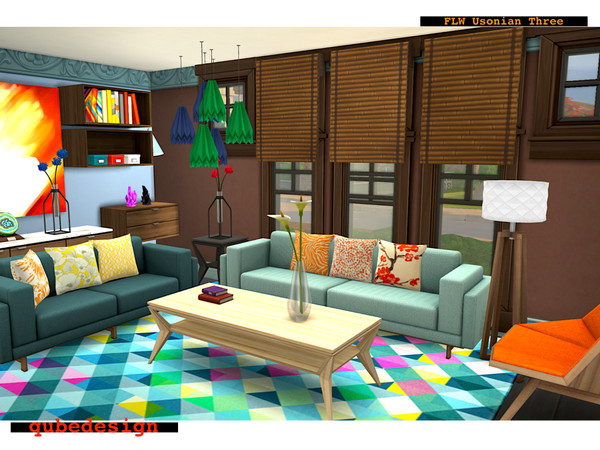 Usonian Three tiny home by QubeDesign at TSR image 3618 Sims 4 Updates