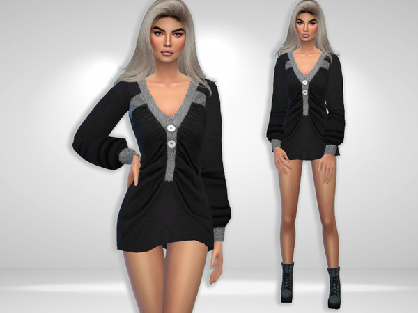 Beck Top/Dress by Puresim at TSR image 3621 Sims 4 Updates