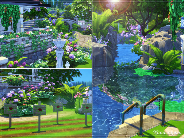 Sims 4 Persephone fantasy style cottage by Xandralynn at TSR