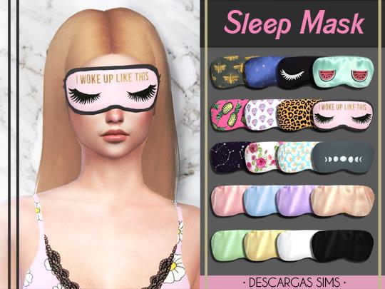 Sims 4 Sleep Mask at Descargas Sims
