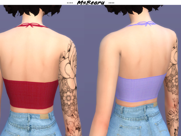 Sims 4 Tied Halter Top by MsBeary at TSR