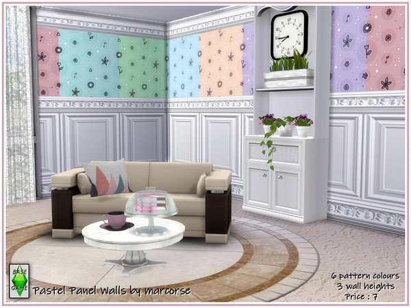 Pastel Panel Walls by marcorse at TSR image 3713 Sims 4 Updates