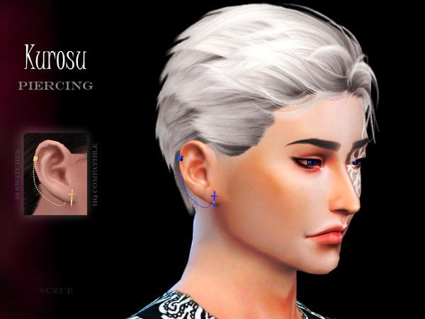 Kurosu Right Piercing by Suzue at TSR image 3716 Sims 4 Updates