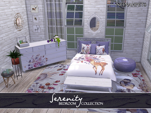 Serenity Bedroom Collection by neinahpets at TSR image 3718 Sims 4 Updates