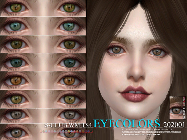Sims 4 Eyecolors 202001 by S Club WM at TSR