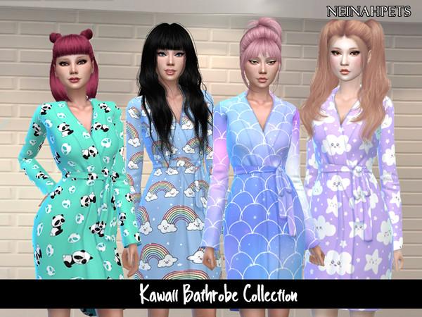Kawaii Bathrobe Collection by neinahpets at TSR image 3725 Sims 4 Updates