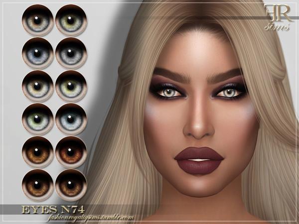 Sims 4 FRS Eyes N74 by FashionRoyaltySims at TSR
