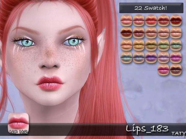 Sims 4 Lips 183 by tatygagg at TSR