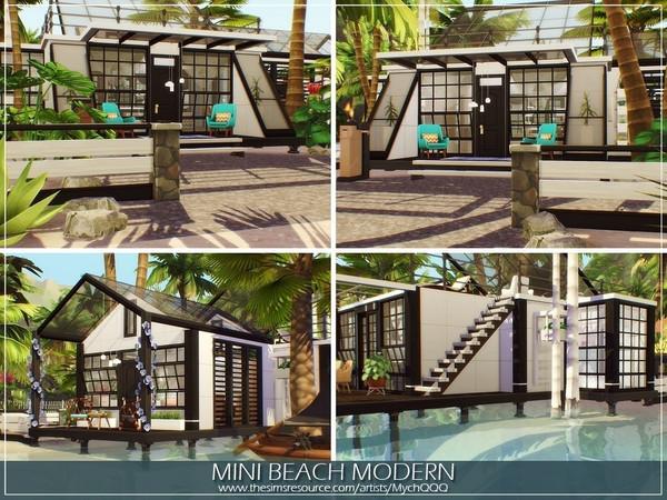Sims 4 Mini Beach Modern House by MychQQQ at TSR