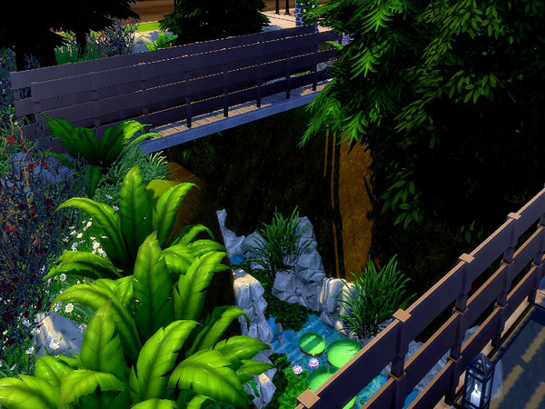 Sims 4 Mountain Paradise house by GenkaiHaretsu at TSR
