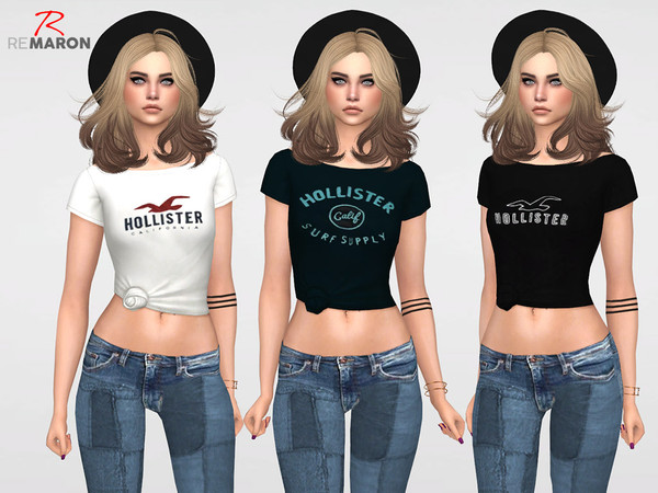 Sims 4 Blouse for Women by remaron at TSR