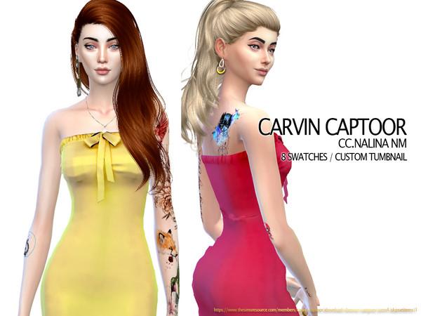 Sims 4 Nalina NM dress by carvin captoor at TSR