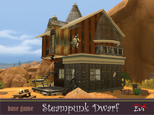 Steampunk dwarf house by evi at TSR image 4324 Sims 4 Updates