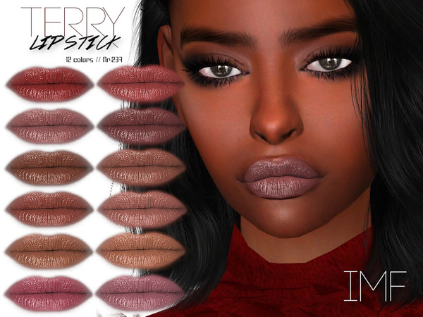 Sims 4 IMF Terry Lipstick N.237 by IzzieMcFire at TSR