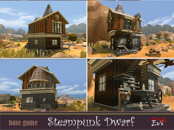Steampunk dwarf house by evi at TSR image 4422 Sims 4 Updates