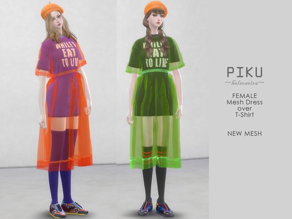 PIKU Dress over T shirt by Helsoseira at TSR image 4520 Sims 4 Updates