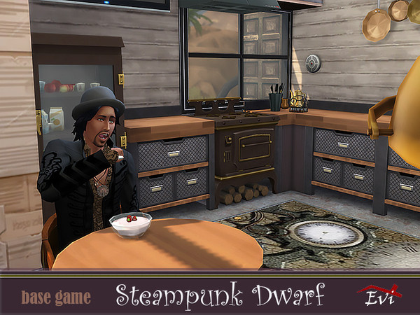 Steampunk dwarf house by evi at TSR image 4524 Sims 4 Updates