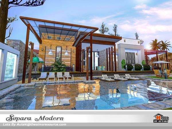 Sims 4 Supara Modern home by autaki at TSR