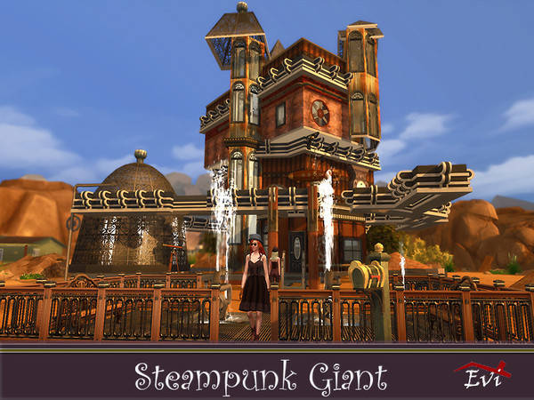 Steampunk Giant family house by evi at TSR image 4529 Sims 4 Updates