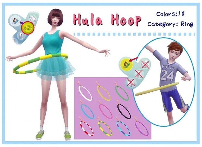 Hula Hoop acc. at A luckyday image 454 670x489 Sims 4 Updates