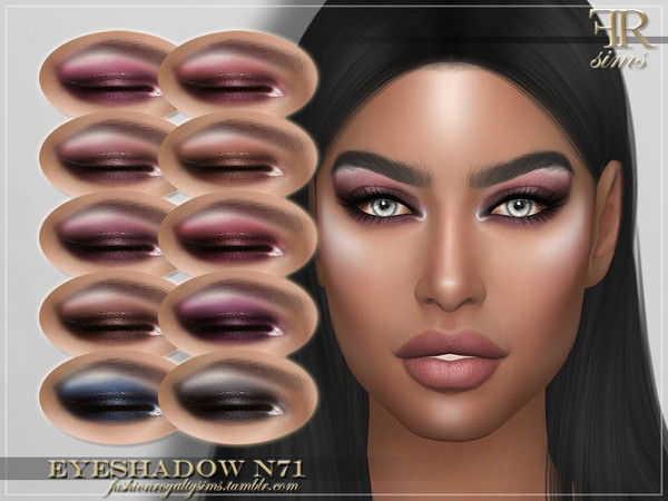 Sims 4 FRS Eyeshadow N71 by FashionRoyaltySims at TSR
