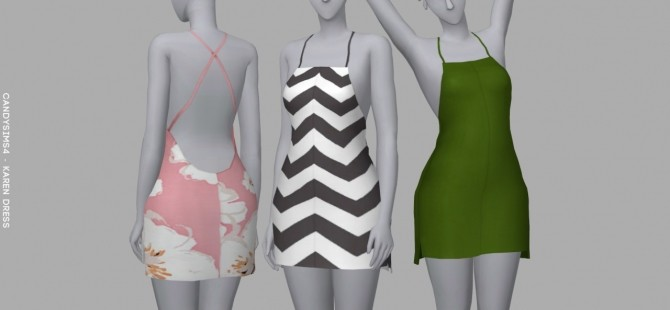 Sims 4 KAREN DRESS at Candy Sims 4