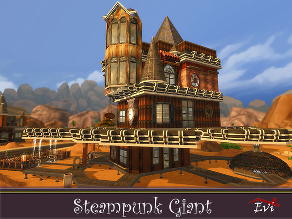 Steampunk Giant family house by evi at TSR image 4629 Sims 4 Updates