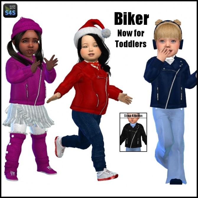 Sims 4 Biker jacket by SamanthaGump at Sims 4 Nexus