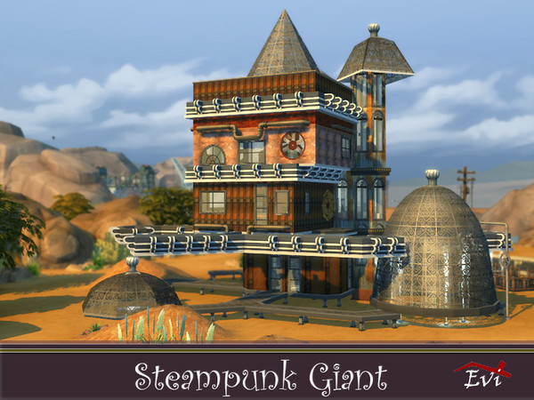Steampunk Giant family house by evi at TSR image 4728 Sims 4 Updates