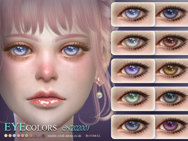 Sims 4 Eyecolors 202001 by S Club LL at TSR