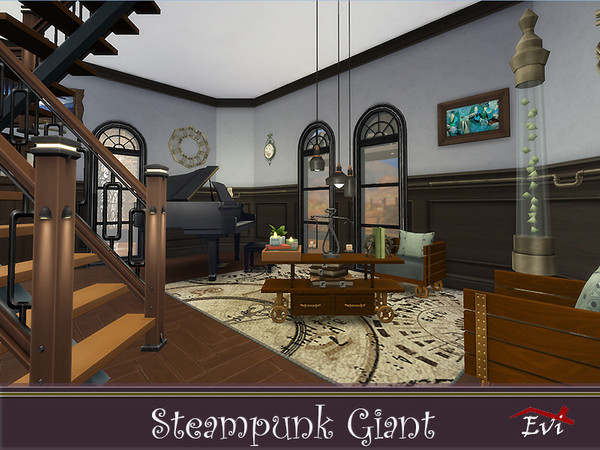 Steampunk Giant family house by evi at TSR image 4829 Sims 4 Updates