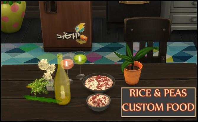 RICE AND PEAS CUSTOM FOOD at Icemunmun image 484 670x415 Sims 4 Updates