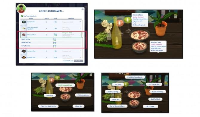 RICE AND PEAS CUSTOM FOOD at Icemunmun image 485 670x393 Sims 4 Updates