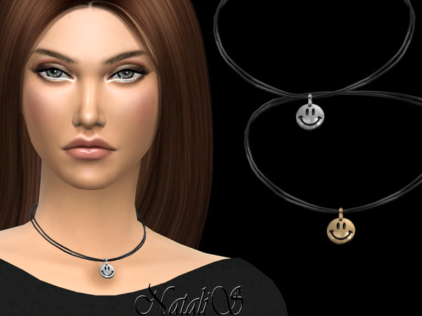 Sims 4 Smiley face pendant by NataliS at TSR