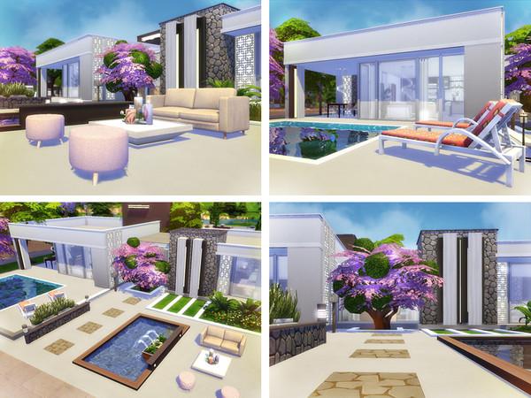 Sims 4 Anita modern home by Rirann at TSR