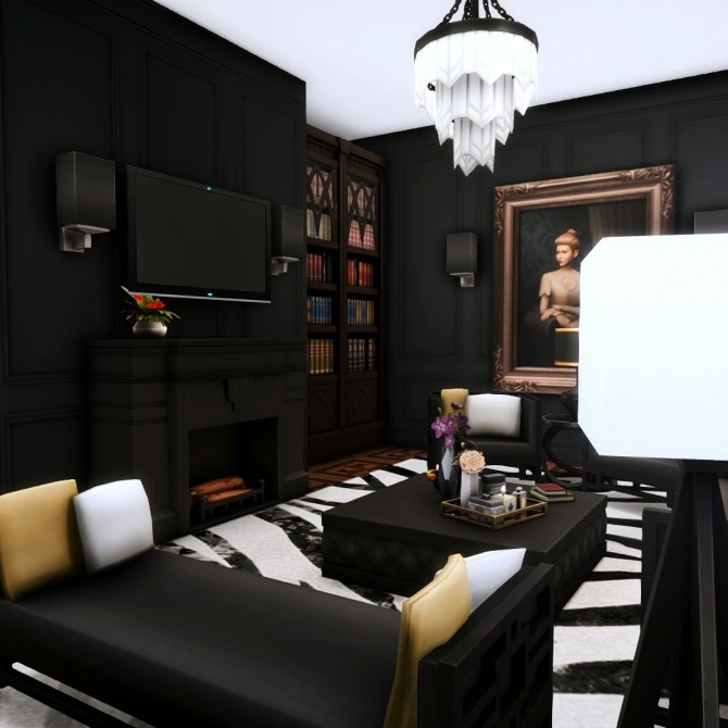 Sims 4 Goth Manor home makeover at Simsational Designs